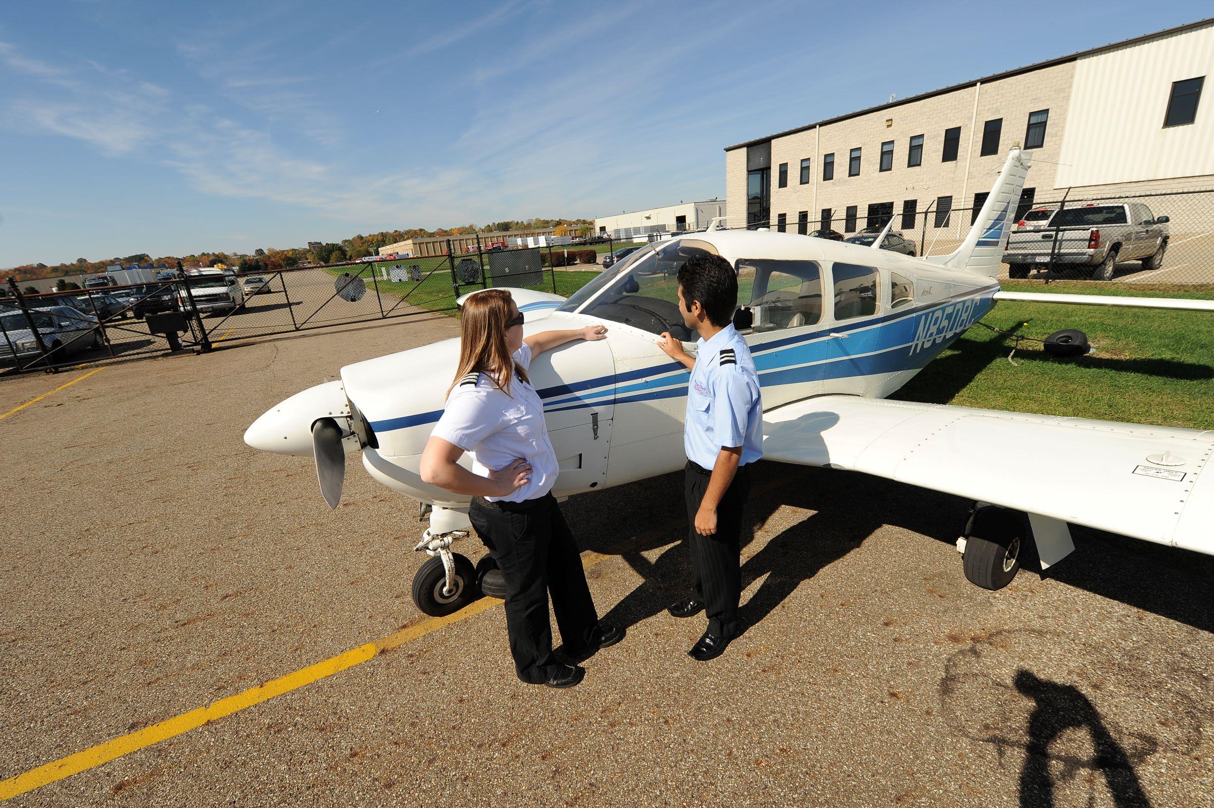 Pilots discussing
