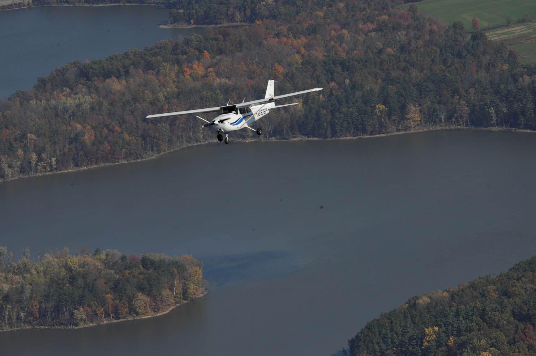 Plane Over River
